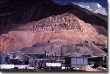 This is a photograph of a surface mine in Colorado.