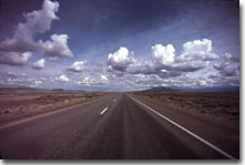 This is a photograph of an interstate highway in Southern Idaho.